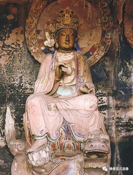 安岳石刻 文殊骑狮像