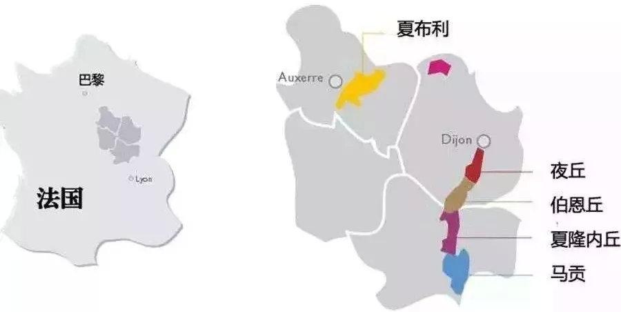 勃艮第酿酒地图