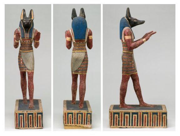 《阿努比斯雕像》埃及托勒密时期,公元前 332—前 30 年