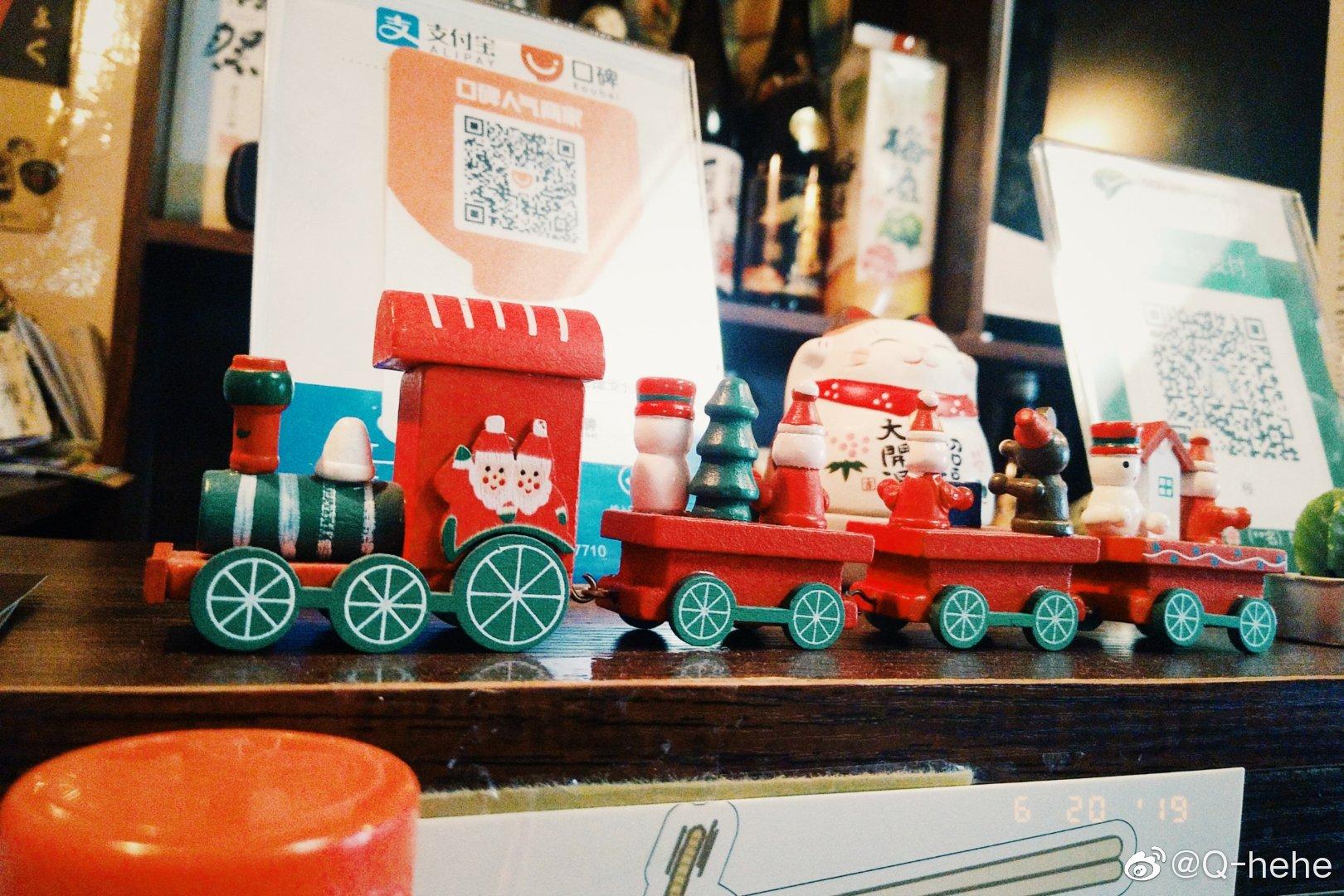 这个是吧台的小火车🚋️🚋️🚋️