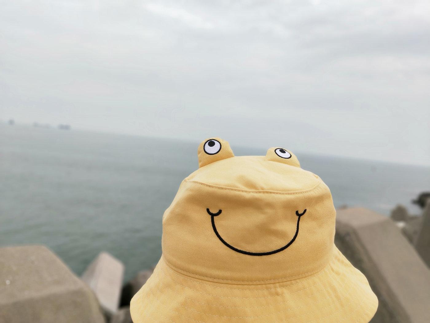我误会她是只青蛙很久了,看了吊牌才知道是只螃蟹!